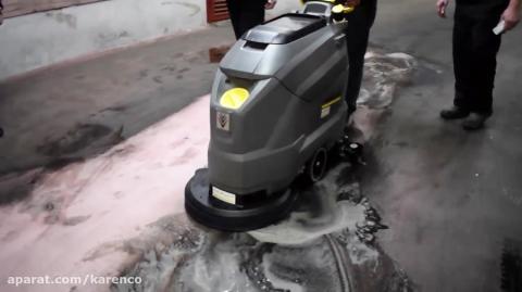 نظافت صنعتی کف مجتمع تجاری